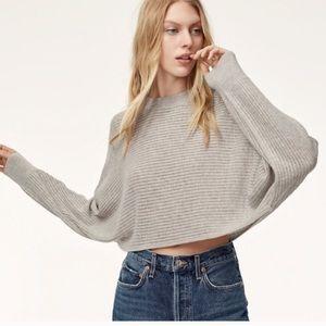 ARITZIA WILFRED FREE Cropped Oversized Sweater